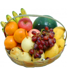 Special Fruit Basket with Pineapple