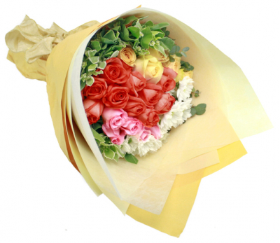 36 Mixed Color Roses Bouquet
