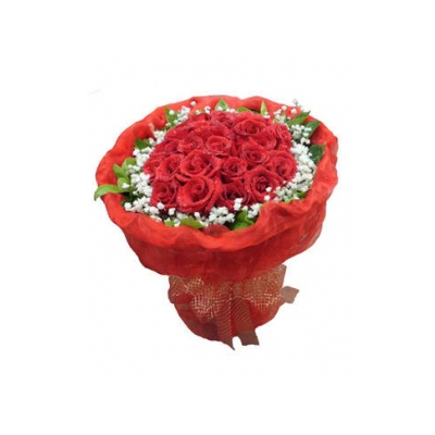 36 red roses with greenery bouquet delivery to cebu