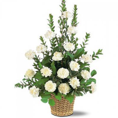 Send White Simplicity Basket To Cebu