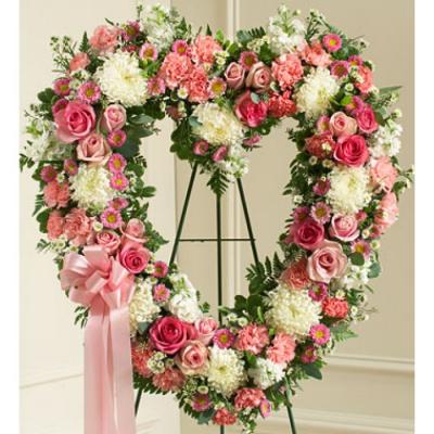 Send Shades of Pink Heart Wreath To Cebu