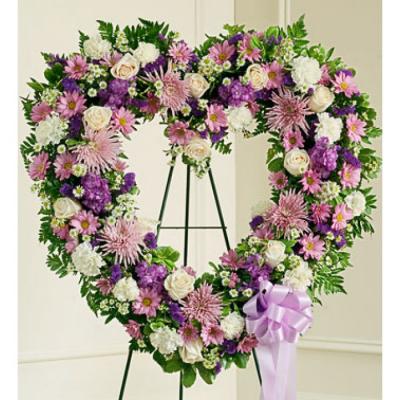 Send Artistic Heart Wreath To Cebu