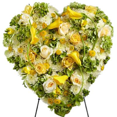 Send Radiant Shades Heart Wreath To Cebu
