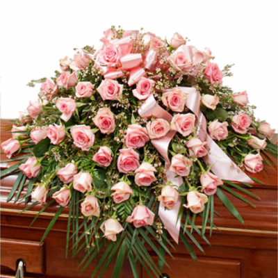 Send Roses in Pink Casket Spray To Cebu