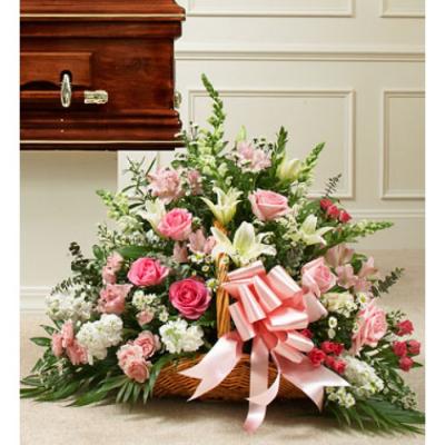 Send Lavishly Pink and White Basket To Cebu