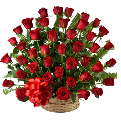 send basket Of 50 red roses to cebu in philippines
