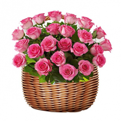 send 24 pink roses in basket to cebu to philippines