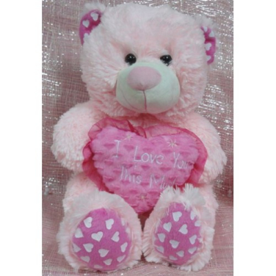 Pink I Love You Hug Bear to Cebu City