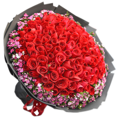 send 100 stems red roses in bouquet to cebu