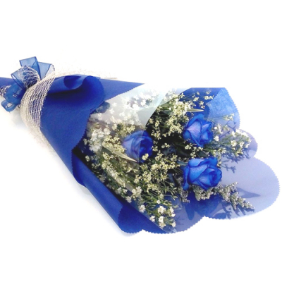 send bouquet of 3 blue roses to cebu