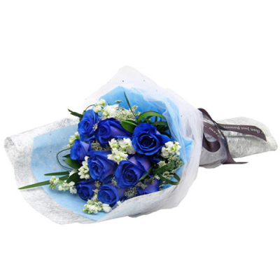 send 12 fresh blue roses arrangement to cebu