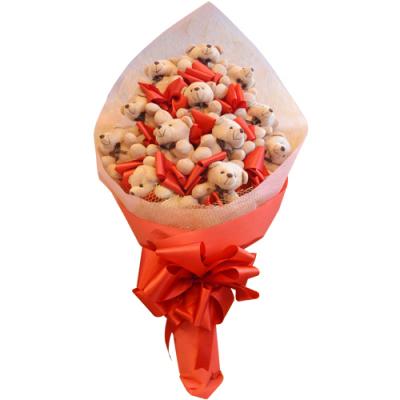 send dozen of mini teddy bear bouquet to cebu