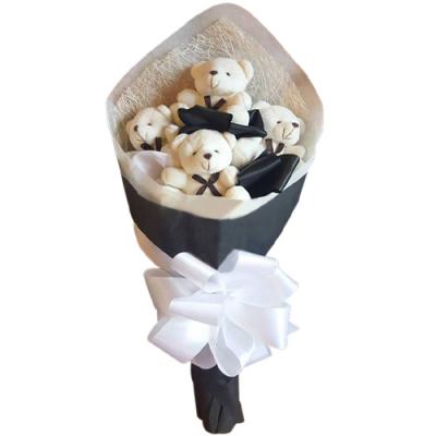 send 4 mini size teddy bear bouquet to cebu