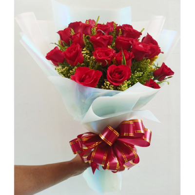 send bunch of 24 red color roses bouquet to cebu