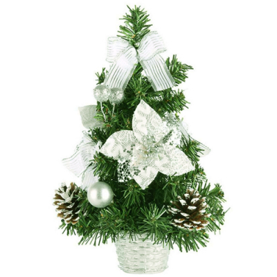 send 30cm silver color mini christmas tree to cebu