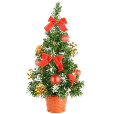 send 45cm red green christmas mini-tree to cebu