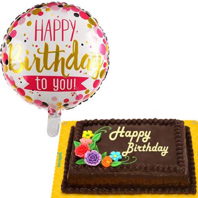 Birthday Balloon with Choco Chiffon Cake