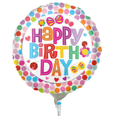 Single Happy Birthday Mylar Balloon