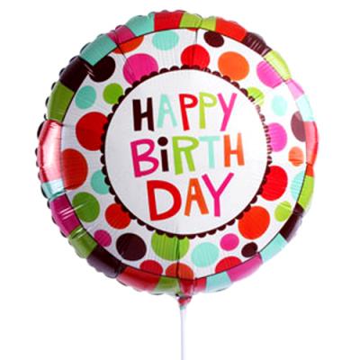 Single Pc. Happy Birthday Mylar Balloon
