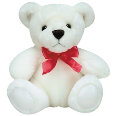"8"" Inch Small Size White Teddy Bear"