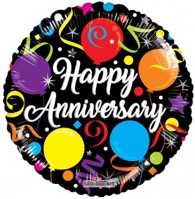 1pc. Anniversary Mylar Balloon