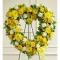 Send Sunny Heart Wreath To Cebu