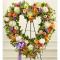 Send Softly Colored Heart Wreath To Cebu