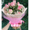 send dozen of pink color roses in bouquet to cebu