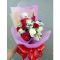 send 12 red and white roses with mini bear to cebu