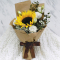send single sunflower with 6 white roses bouquet to cebu