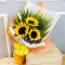delivery 3 pcs. fresh sunflower in bouquet  to cebu