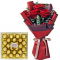 3 Red Roses Bouquet with 24 pcs Ferrero Box