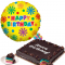 Rainbow Dedication Cake with Birthday Balloon