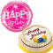 Marble Chiffon Cake with Birthday Balloon