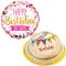 Birthday Marble Chiffon Cake with Mylar Balloon