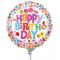 Single Happy Birthday Mylar Balloon