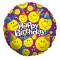 Single Round Shaped Birthday Mylar Balloon