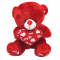 Small Size Red Teddy Bear with Love Pillow
